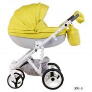 ADAMEX Бебешка количка MONTE Carbon Deluxe 100% Leather 2 в 1